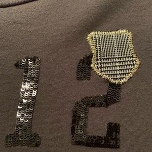 """J Crew Tee with sequins """"12"""""""